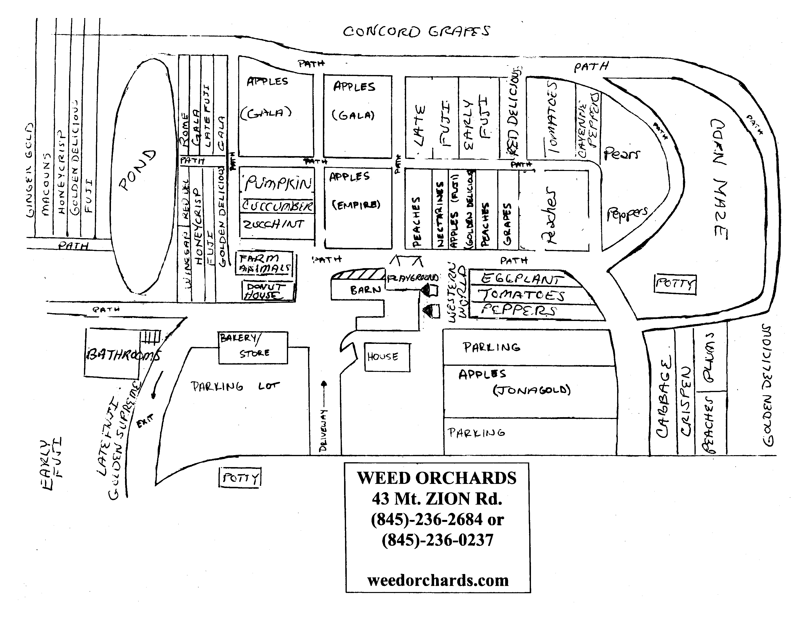map of Weed Orchards