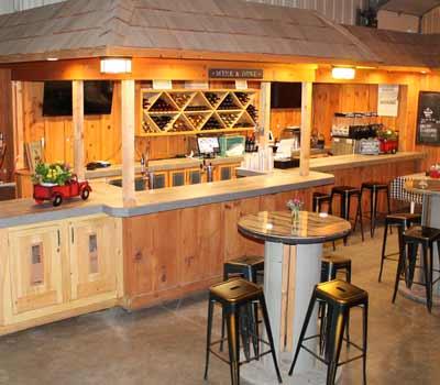 Thumbnail of wood bar inside winery