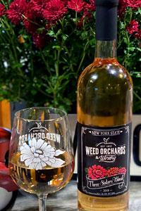 Bottle of Three Sisters blush wine